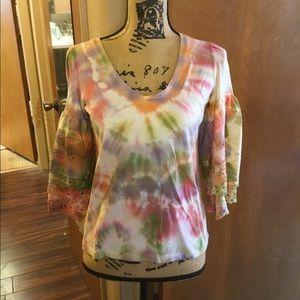 Tie dye top by AEO